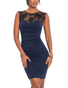 Lace bodycon dress blauw