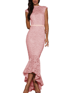 Lace mermaid midi pink
