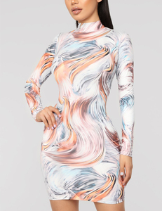 Kylie inspired swirl dress