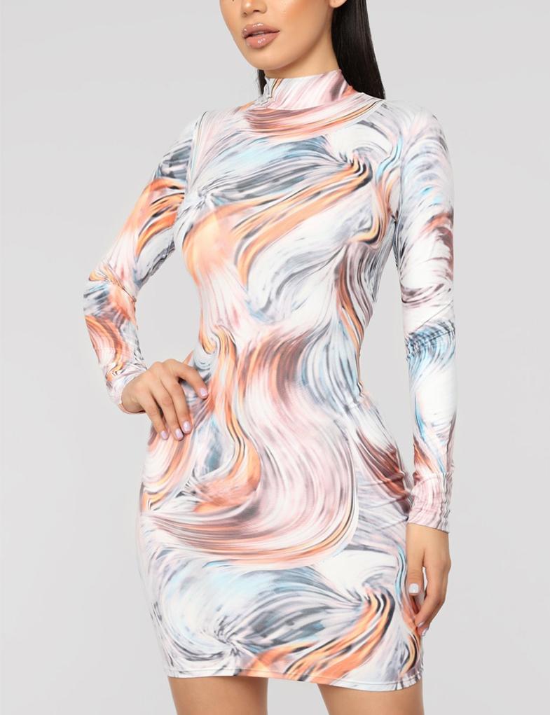 3c3115de876104 Cloozy — Kylie inspired swirl dress