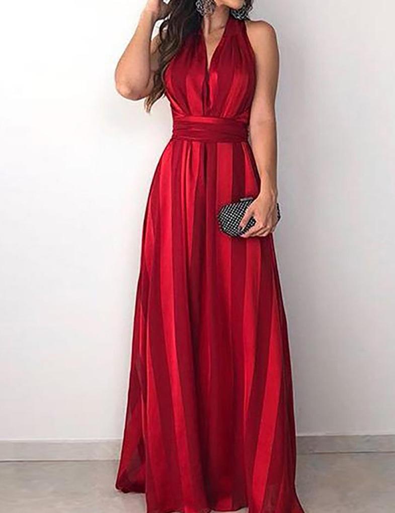 6d402be714ca32 Cloozy — Rode avond jurk