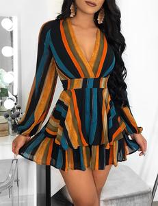Ocean flared dress