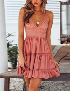 Oud roze zomer jurk