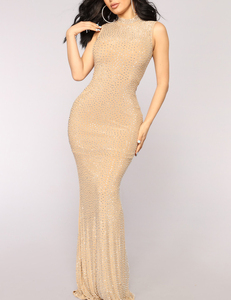 Evening dress nude